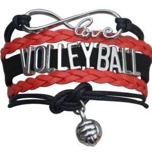 Girls Volleyball Bracelet - Black & Red
